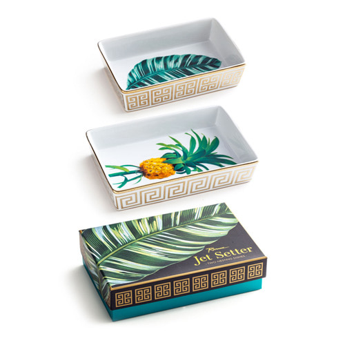 [로잔나] Jet Setter Nesting Tray Botanical  2pcs/set
